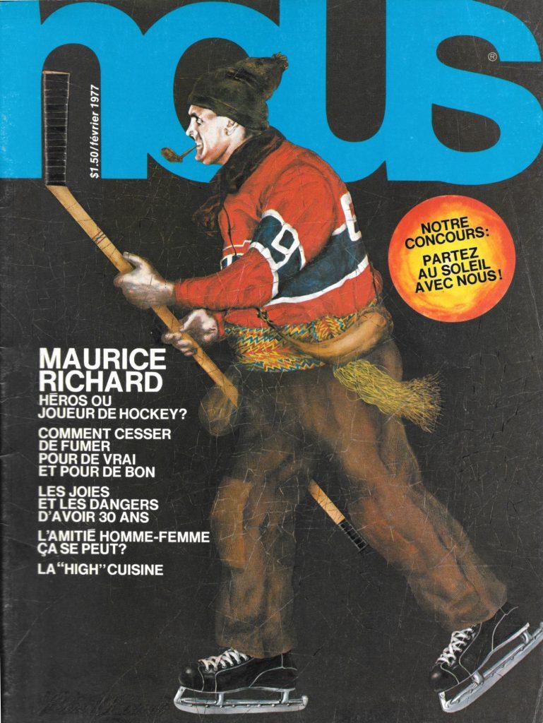 Hélène Racicot, couverture du magazine Nous, février 1977