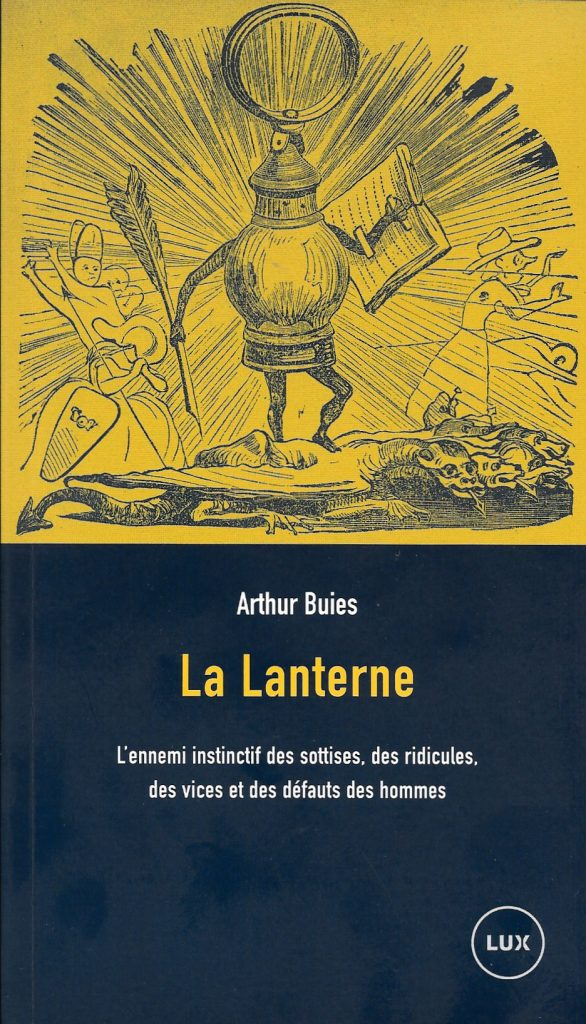 Arthur Buies, la Lanterne, éd. de 2018, couverture