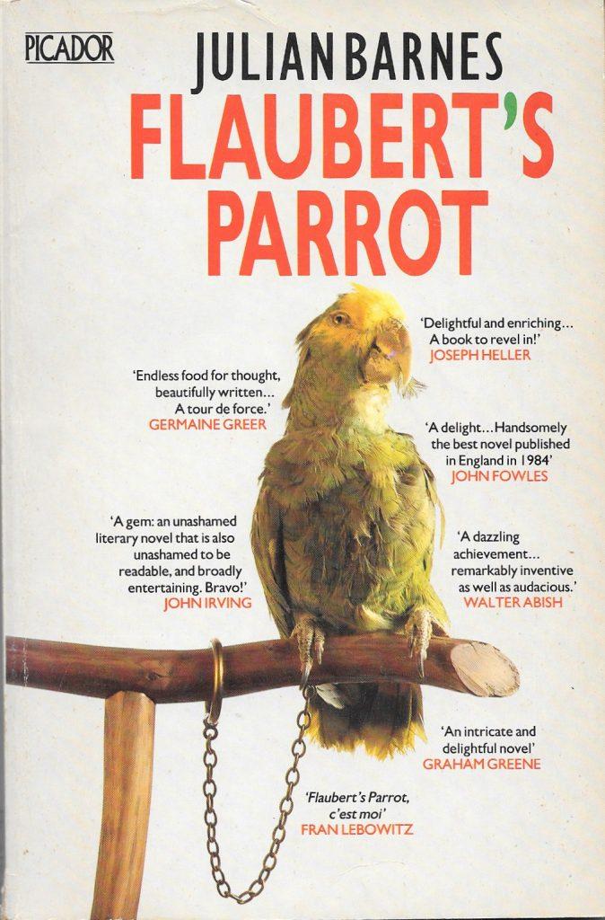 Julian Barnes, Flaubert's Parrot, éd. de 1985, couverture
