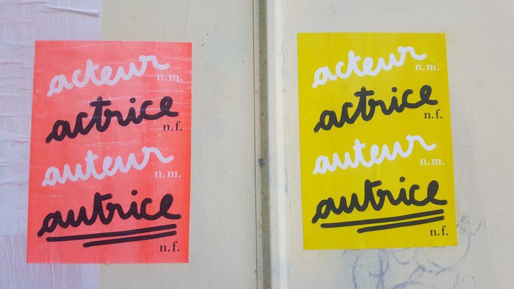 Actrice / Autrice