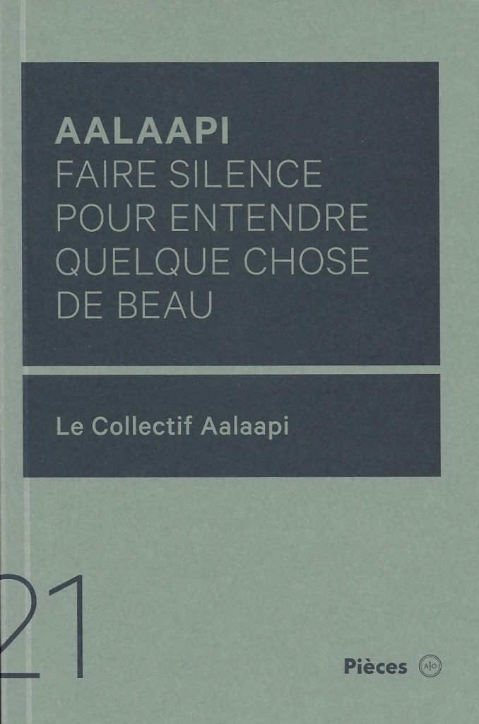 Aalaapi, 2019, couverture