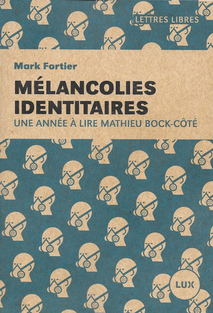 Mark Fortier, Mélancolies identitaires, 2019, couverture