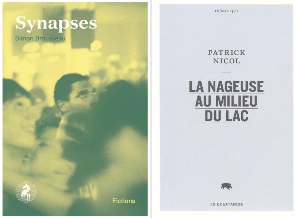 Simon Brousseau et Patrick Nicol, collage de pages de couverture