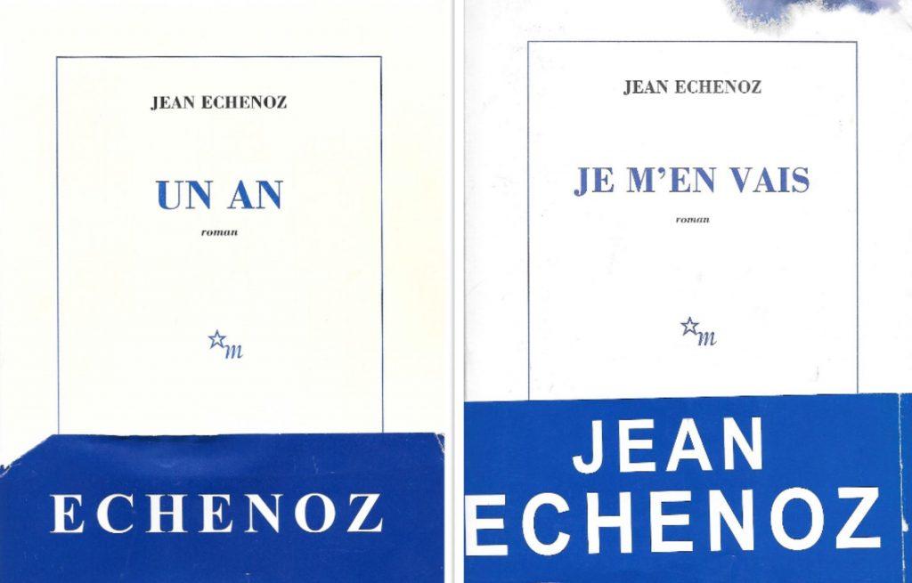 Deux couvertures de Jean Echenoz