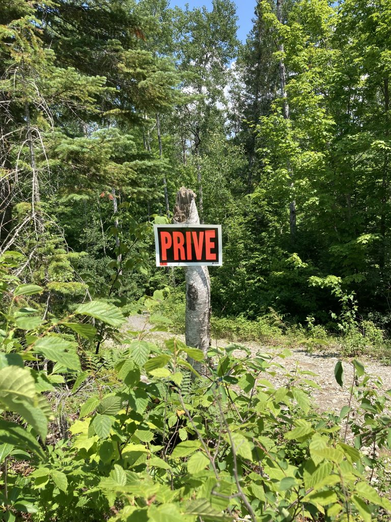 «Privé», panneau de signalisation