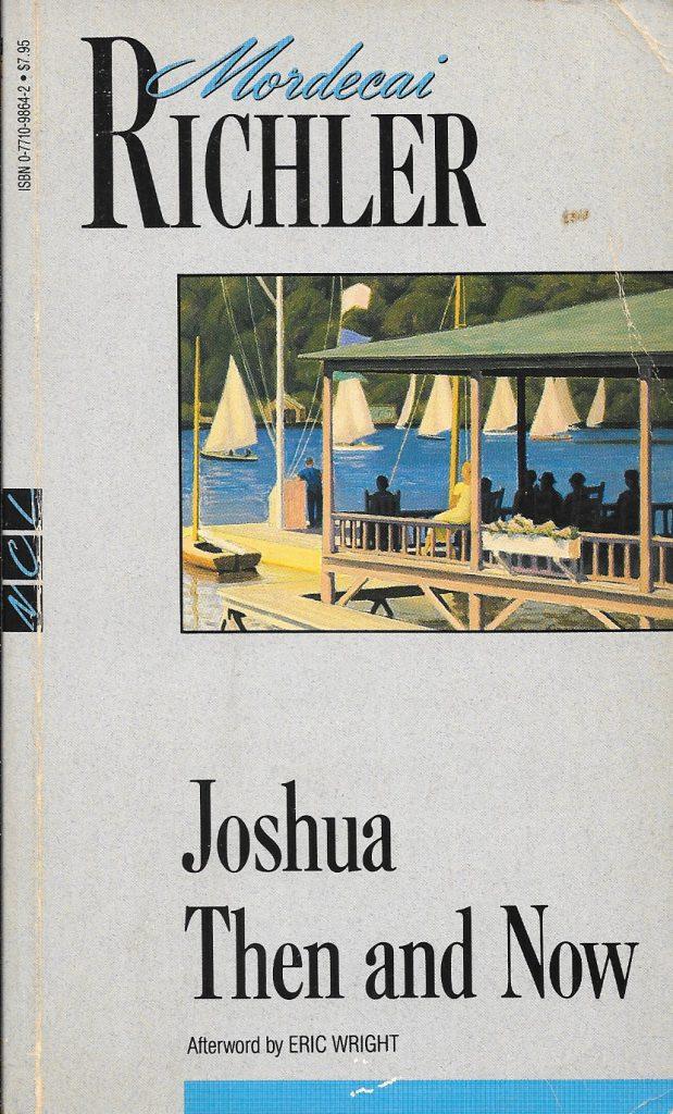 Mordecai Richler, Joshua Then and Now, éd. de 1993, couverture