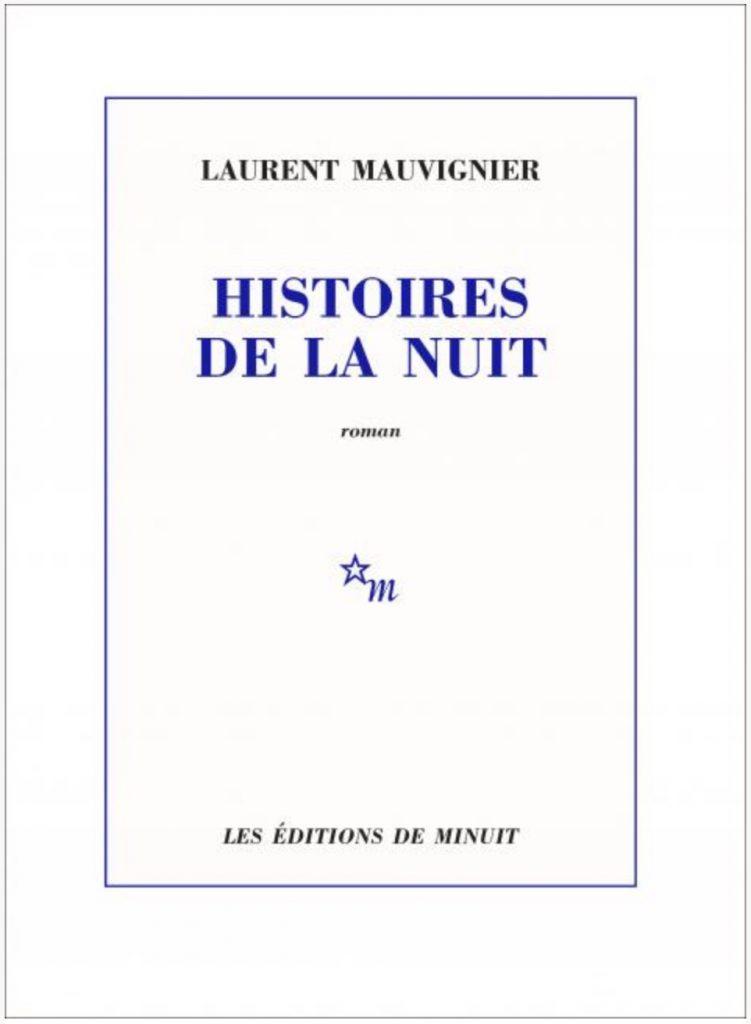 Laurent Mauvignier, Histoires de la nuit, 2020, couverture