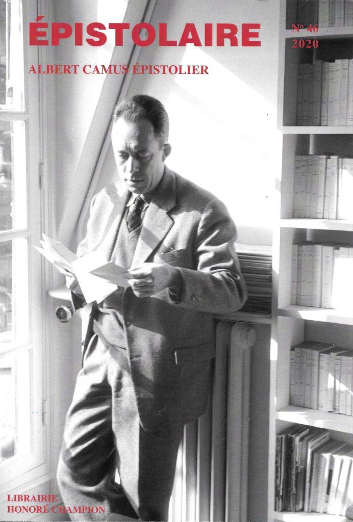 Épistolaire, 46, 2020, couverture, photographie d'Albert Camus