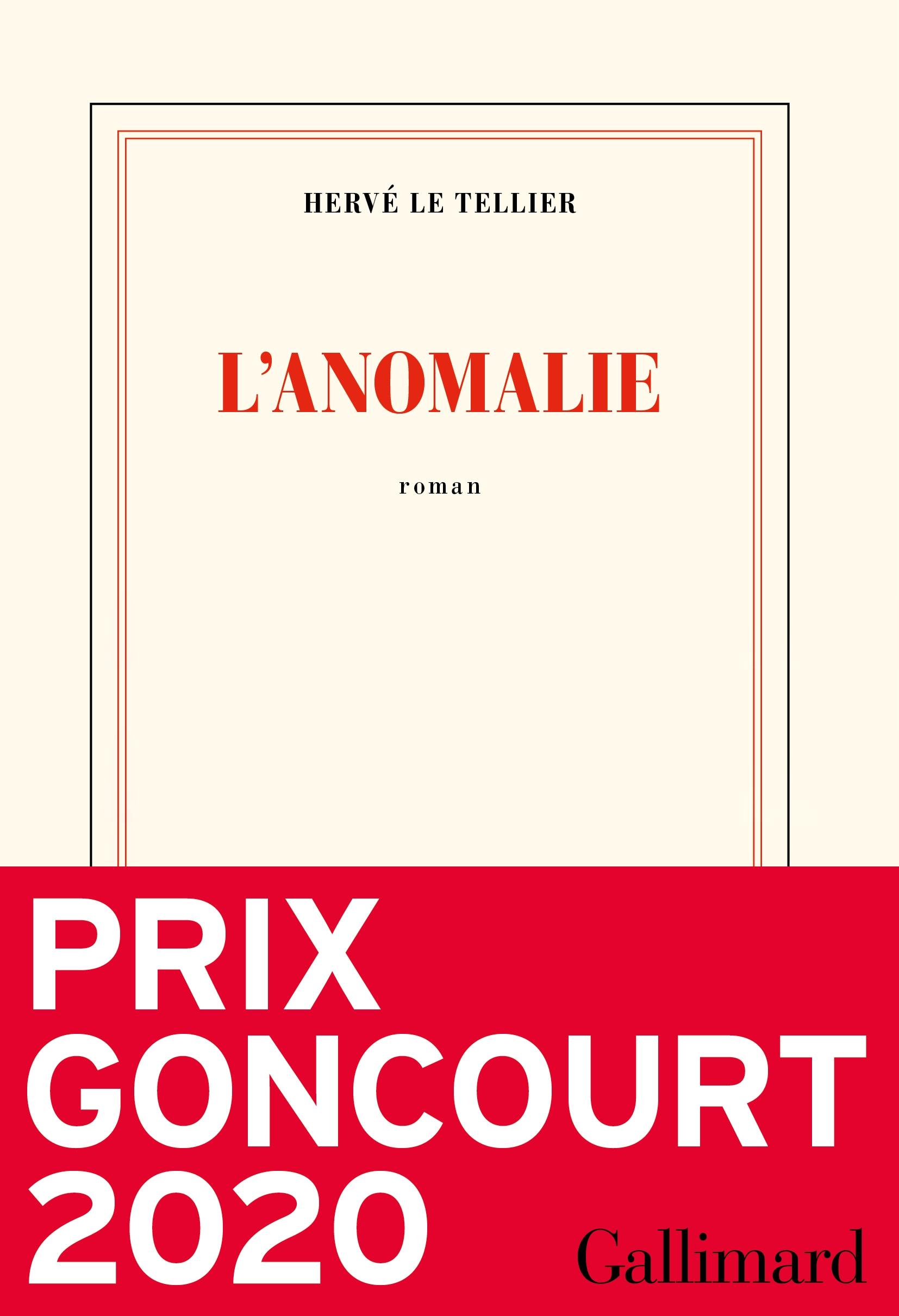 Hervé Le Tellier, l'Anomalie, 2020, couverture
