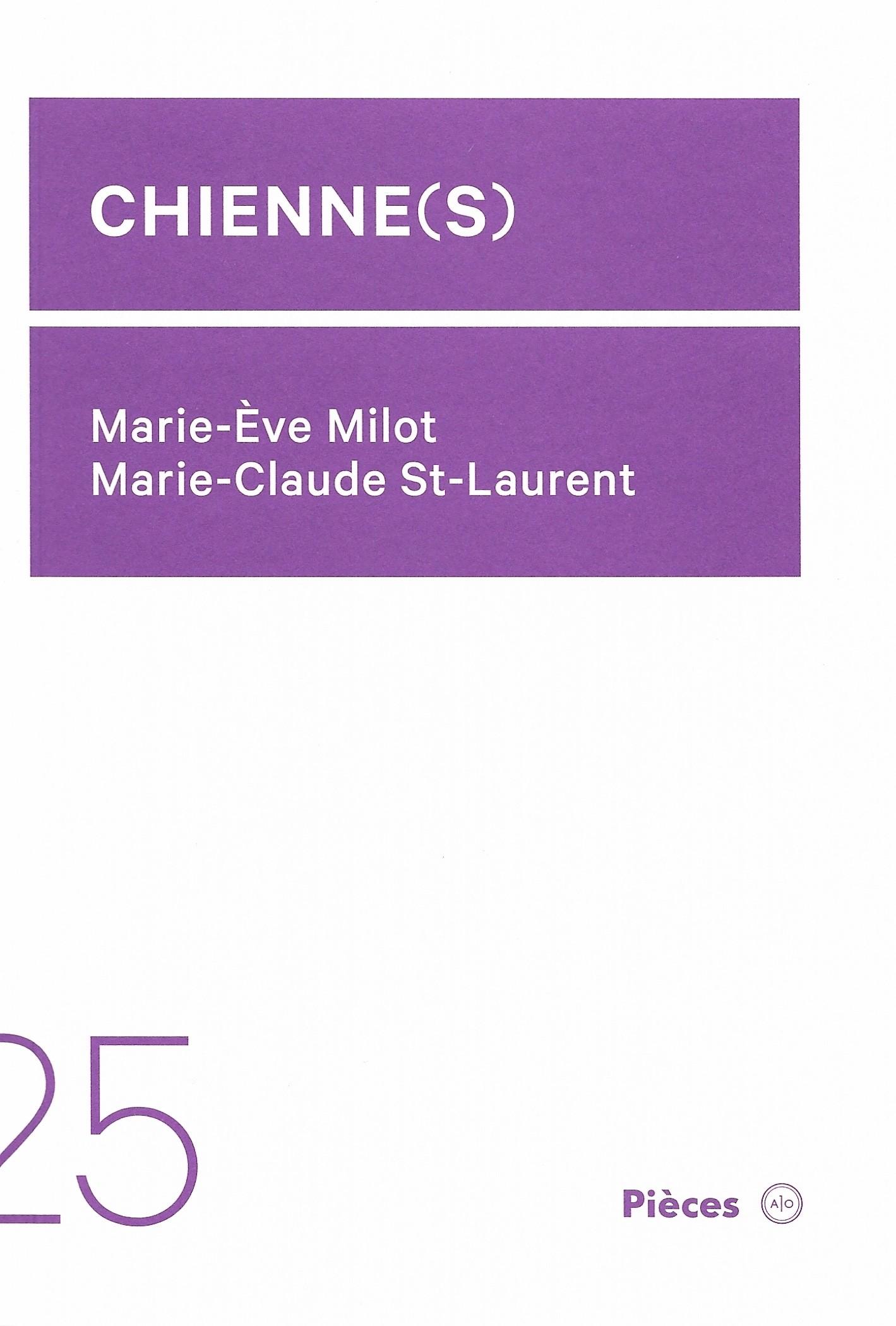 Marie-Ève Milot et Marie-Claude St-Laurent, Chienne(s), 2020, couverture