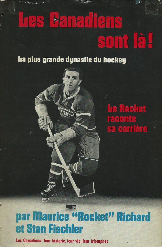 Maurice Richard et Stan Fischler, Les Canadiens sont là!, 1971, couverture
