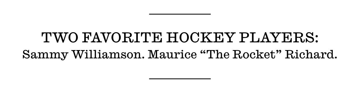 Les deux joueurs de hockey préférés de Bob Dylan selon le magazine Interview, 2012