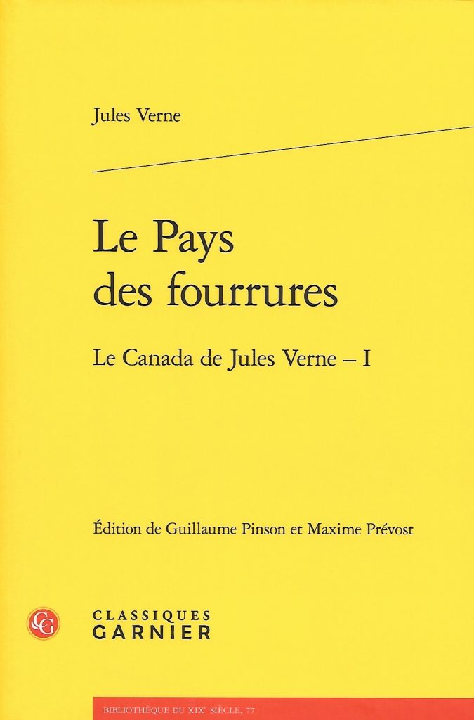 Jules Verne, le Pays des fourrures, éd. de 2020, couverture