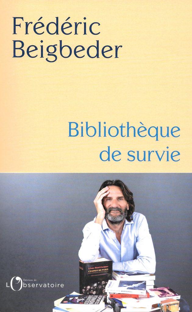 Frédéric Beigbeder, Bibliothèque de survie, 2021, couverture