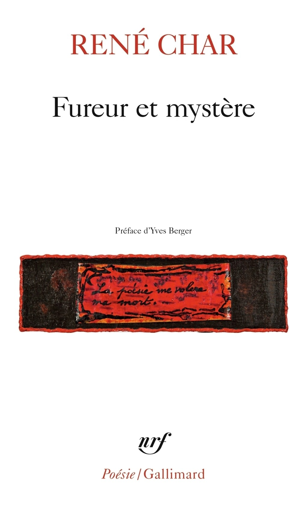 René Char, Fureur et mystère, éd. de 1967, couverture
