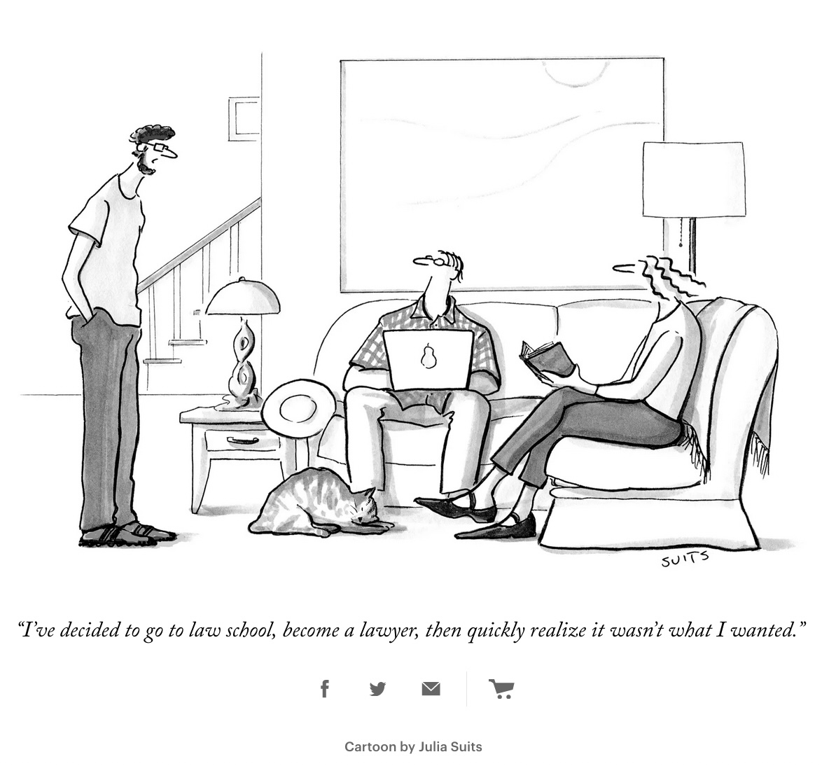 Dessin d'humour de Julia Suits, The New Yorker, 14 juin 2021