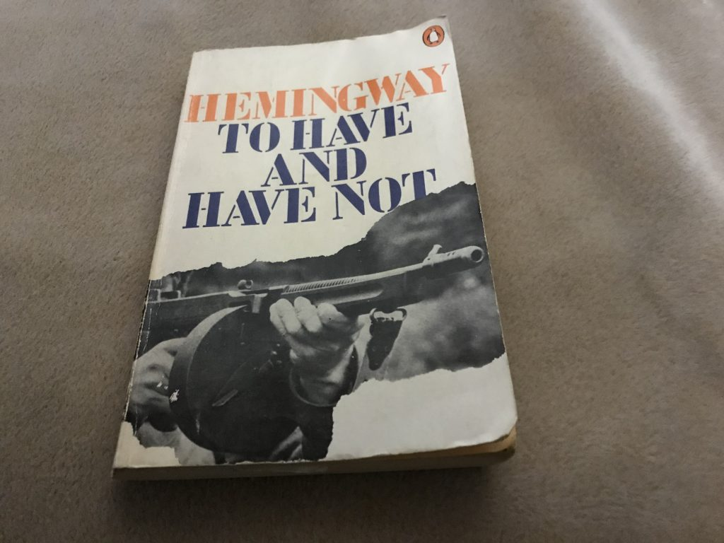 Ernest Hemingway, To Have and Have Not, éd. 1976, couverture