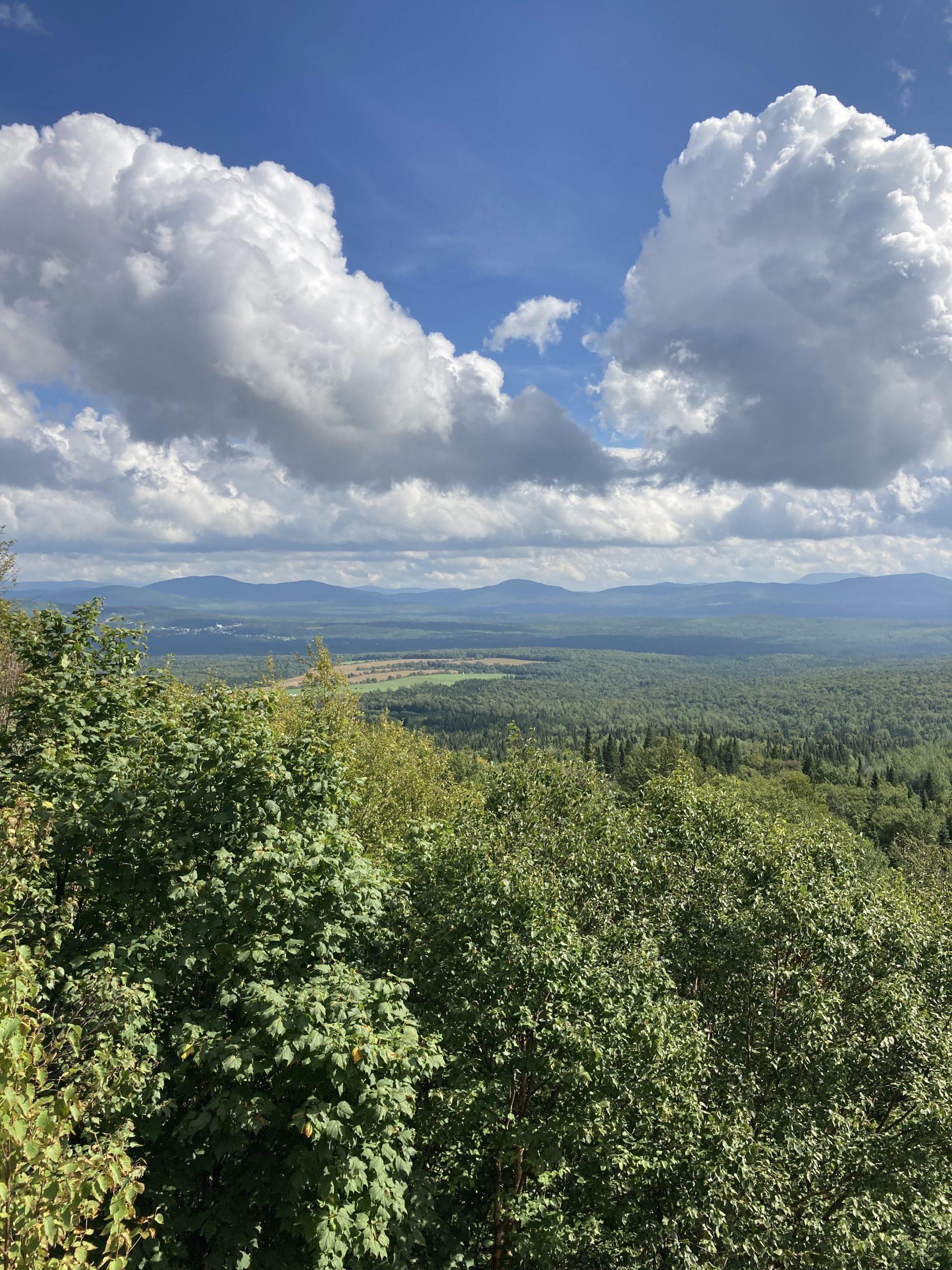 Vue du mont Mégantic, 30 août 2021
