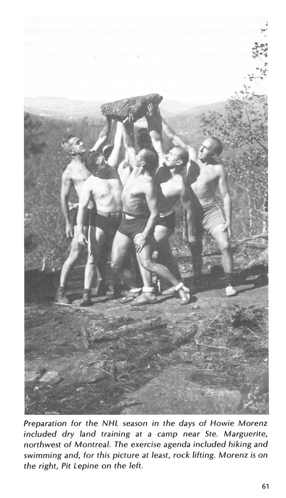 Les joueurs des Canadiens s'entraînent en pleine nature dans les années 1920