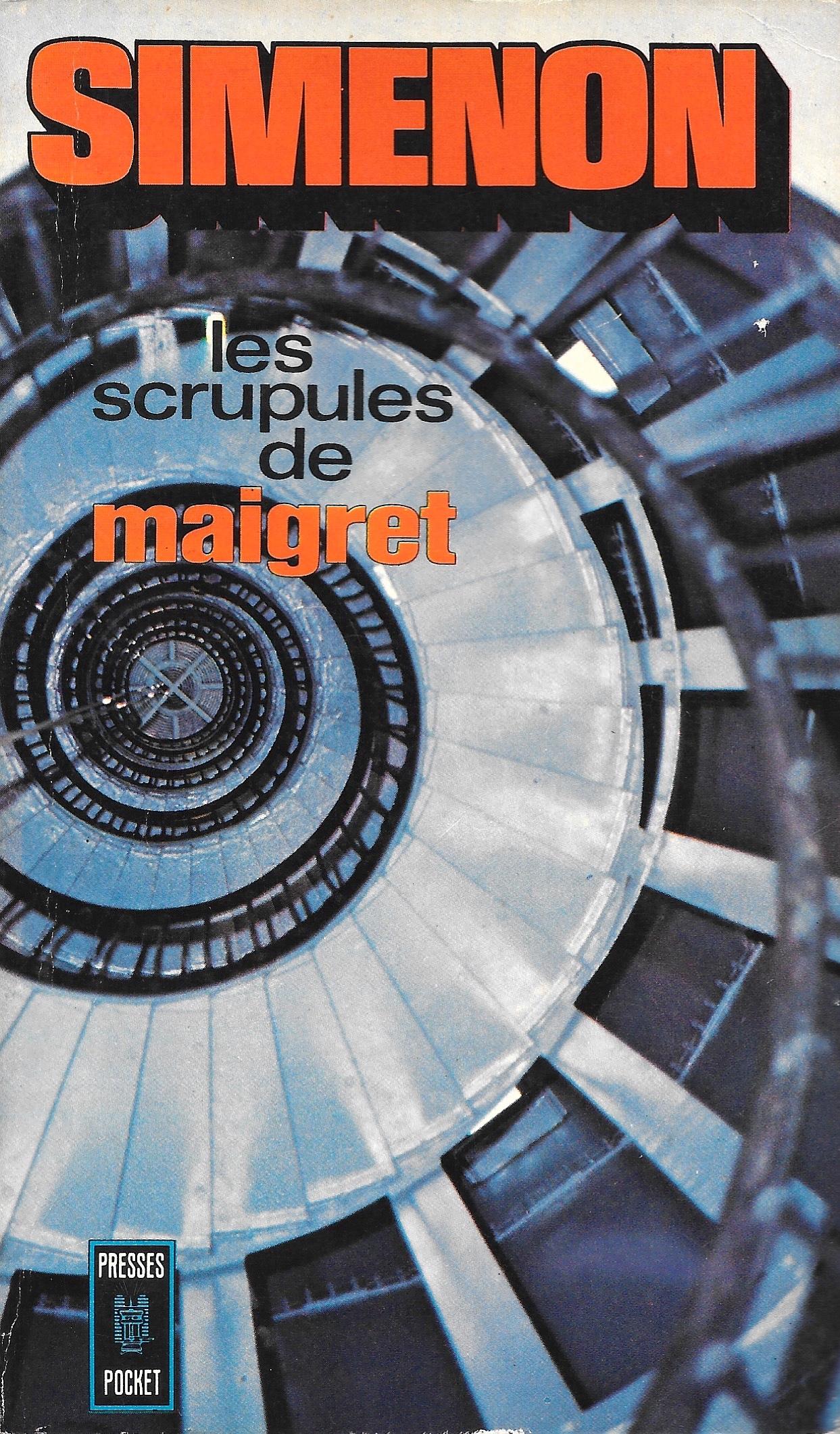 Simenon, les Scrupules de Maigret, éd. de 1972, couverture