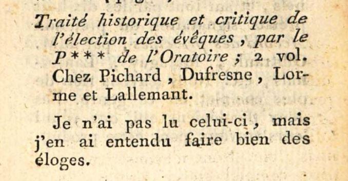 Abbé Barruel, Journal ecclésiastique, 1792, extrait